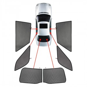 CarShades FIAT PANDA 5D 2012> ΚΟΥΡΤΙΝΑΚΙΑ ΜΑΡΚΕ (6 ΤΕΜ.)